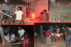 थारु समुदायमा हुक्के–हुक्का खेलेर लक्ष्मी भित्र्याइयो (फोटो फिचरसहित)