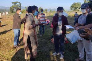 चौदण्डीगढी नगरपालिकाका मेयरले उपमेयरलाई कोभिड अस्पतालबाट गरे विदाई
