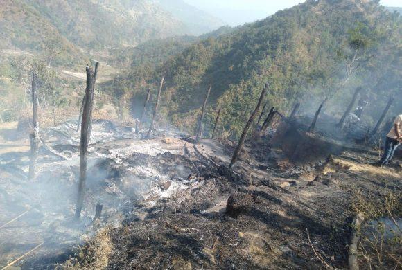 उदयपुरमा तीन घरमा आगलागीबाट ३१ लाखको क्षति